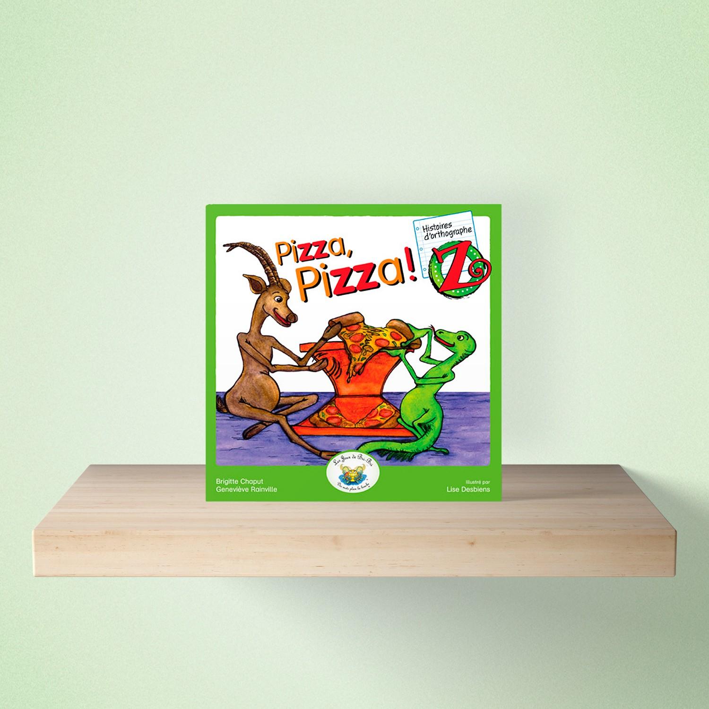 mock up livre pizza - HISTOIRES d'orthographe - Pizza Pizza!